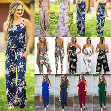 Boho Womens Sleeveless Long Jumpsuit Pants Rompers Trousers Playsuit Clubwear AU