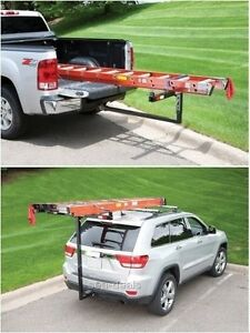 """Truck Bed Extenders Pick Up Truck Hitch Mounted Cargo Ladder Roof Rack 2"""" Recei"""
