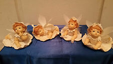 Set of 4 Cute Baby with Soft Fairy Wings - ideal for X'mas Present / Gift