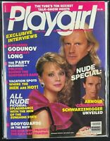 playgirl, magazine, nude arnold schwarzenegger, apr, 1986