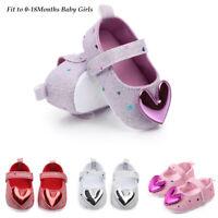 Infant Toddler Kids Indoor Shoes Heart-Shaped Princess Baby Walking Shoes