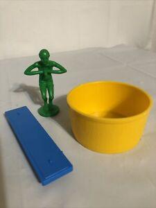 Mouse Trap Milton Bradley Game - Replacement Pieces. Diver Washtub Diving Board