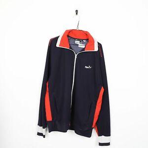 90s PUMA Small Logo Tracksuit Top Jacket Black XL