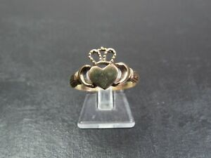 VINTAGE 9ct GOLD CLADDAGH RING 1988