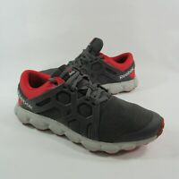 Reebok Hexaffect Run 4.0 Memory Foam Size 12 US Athletic Running Shoes Gray Red