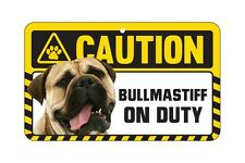 Caution Dog on Duty Pet Sign - 51 Dogs Available Pug Labrador Bulldog Greyhound Bullmastiff