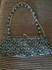 Beaded Black Evening Bag Used Once