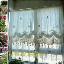 1 PC European Country White Crochet  Balloon Curtain Style B022