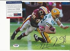 BRIAN ORAKPO WASHINGTON REDSKINS SIGNED COLOR 8X10 W PSA COA U79538