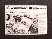 I965- Advertising Pubblicità -1982- OPEL ELABORAZIONI , IRMSCHER , GEROSA