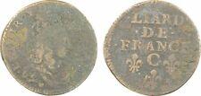 Louis XIV, liard de France au buste juvénile, 2e type, 1656 Caen -164