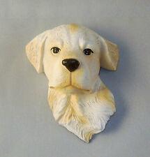 Carino Giallo Labrador Retriever Cucciolo Testa 3-D Scolpito Magnete