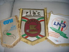 3 GAGLIARDETTI UFFICIALI F.I.G.C. L.N.D. C.O.N.I. CALCIO CAMPANIA BARI VENETO