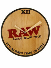 Raw Wooden Wall Clock Large Cones Time