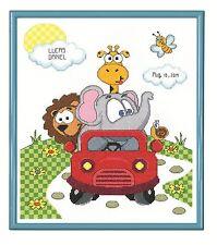 Janlynn Counted Cross Stitch Kit - Animal Fun Ride Birth Record