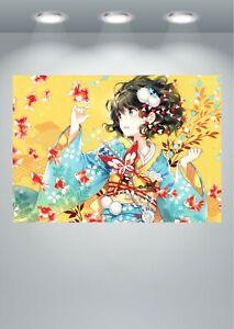 Anime Manga Geisha Girl Poster Art Print in multiple sizes