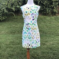 Milly Dress 8 Fitted Waist Tribal Print Bright Color Zipper Sheath Knee New Mini