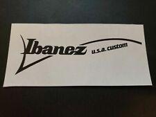 Ibanez USA Custom Headstock Logo Decal (Standard or Reverse Headstock)
