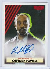 2020 Topps Stranger Things ROB MORGAN OFFICER POWELL # 4/5 Green Autograph Auto