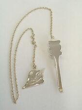 Bookmark with Hat Degli Alpine in Silver 925 - Page Markers Chain - Book