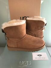 NEW AUTHENTIC WOMEN'S BOOTS UGG MINI BAILEY BOW II 1016501 CHESTNUT size 8