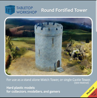 28mm MEDIEVAL ROUND FORTIFIED CASTLE / WATCH TOWER TABLETOP WORKSHOP NEW