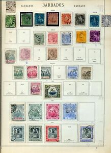 Barbados 1852/1927 Imperf Perf Used on Old Pages(Apprx 50 Items)NS92