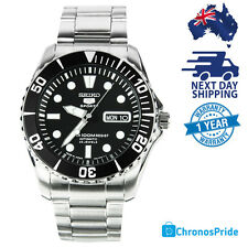 SEIKO 5 Sports Automatic Diving Watch SNZF17J1  Stainless Steel Black Dial Men