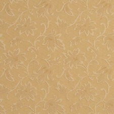 E503 Gold Floral Jacquard Woven Upholstery Grade Fabric By The Yard