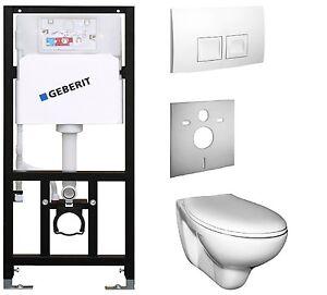 Wand WC Set Vorwandelement mit Geberit UP Tiefspüler oder Flachspüler