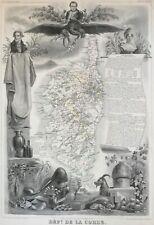 Corsica 1849 France Mediterranean Bonaparte island by Levasseur antique map