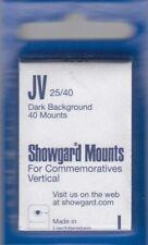 Showgard Stamp Mounts JV 25/40 Black For Commemoratives Vertical Pack Of 40