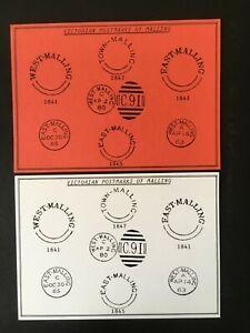E GB 1988 KENT FEDERATION PHILATELIC WEST MALLING AUTUMN RALLY CARDS (2)