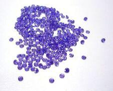 30x 2mm Round Violet/Purple Cubic Zirconia Loose Gemstones