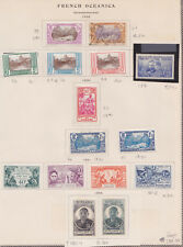 1929 TO 1946 FRENCH POLYNESIA - OCEANIA LOT MINT H AND 3 USED ON PAGES ALBUM