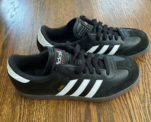 NEW Adidas Samba Classic 036516 Black Lace Up Low Top Sneakers Men's Kids Size 6