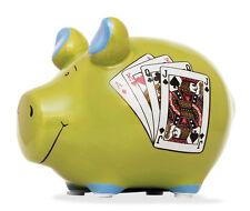 Sparschwein Poker Spielkasse Spardose Sparbüchse Keramik Geldgeschenk