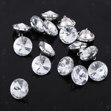 50pcs 20mm Satellite Crystal Sew Buttons Décor for Upholstery Sofa Headboard