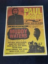 PAUL RODGERS FREE BAD COMPANY  SIGNED POSTER