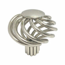"Lot 1-100 Satin Nickel kitchen cabinet drawer Birdcage knobs 1 3/8"" 35MM"