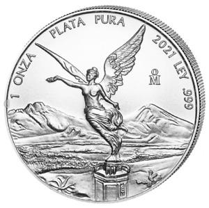 Silber Libertad 2021 1 OZ Onza Unze Ounce Silver Argent Mexiko Mexico Mexique
