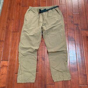 Gramicci Japan mens nylon jogger shell pants size XL fits 34W 36W tan khaki