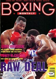 Larry Holmes Autographed Signed Boxing Monthly Magazine Cover PSA/DNA COA S49098