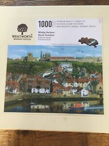 Wentworth jigsaw puzzle 1000 pieces Whitby Harbour( 3 pieces missing 1 damaged )