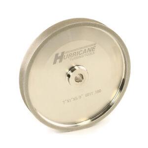 "CBN Grinding Wheel, 7""x1""x.625"", 180 grit, Hurricane Turning  Tools"