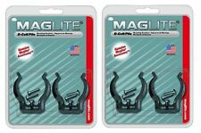 NEW MAGLITE D Cell Mag Flashlight Clamps Mounting Brackets 2 Pair ASXD026