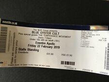 BLUE OYSTER CULT - 2019 London Hammersmith Apollo Ticket Stub