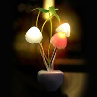 EU Plug Romantic Home Illuminations LED Mushroom Wall Night Light Bed Lamp
