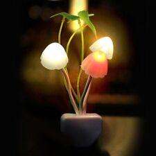 Romantic Beautiful Home Illuminations LED Mushroom Wall Night Light Bed Lamp