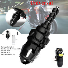 Black Aliminum Motorcycle ATV Frame Engine Protector Ground Crash Slider Cap Kit
